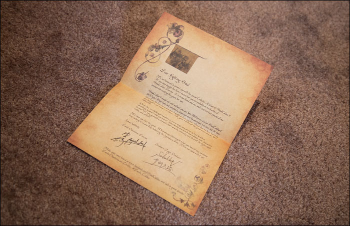 Soul-Calibur-V-Collector's-Edition-Letter