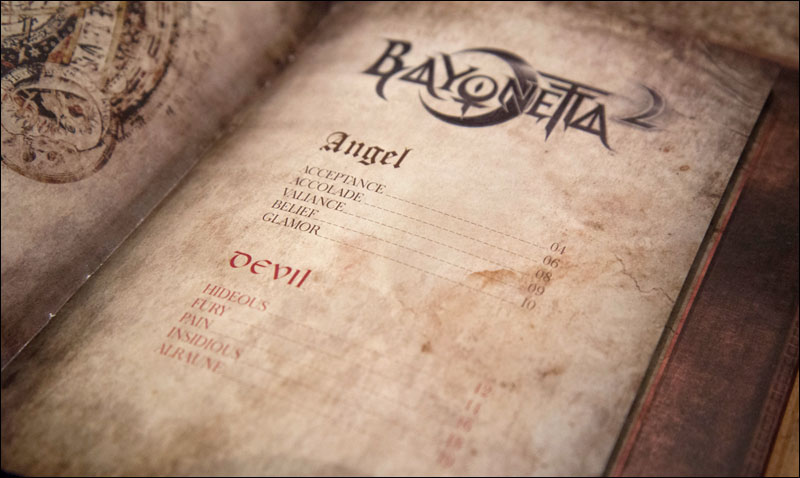 Bayonetta-2-First-Print-Edition-Angel's-Book-Art-of-Bayonetta-2-Contents